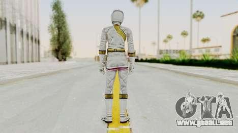 Power Rangers Wild Force - White para GTA San Andreas tercera pantalla