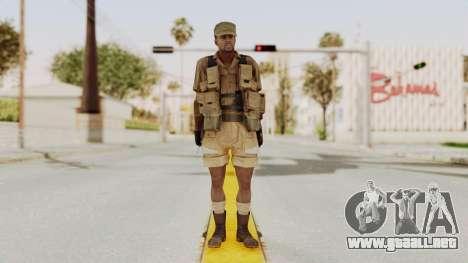 MGSV Phantom Pain CFA Combat Vest 2 v1 para GTA San Andreas segunda pantalla