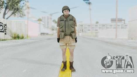 MGSV Phantom Pain CFA Vest v2 para GTA San Andreas segunda pantalla