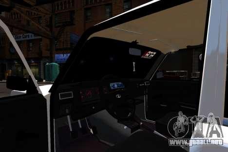 VAZ 2107 BPAN para GTA 4 vista hacia atrás