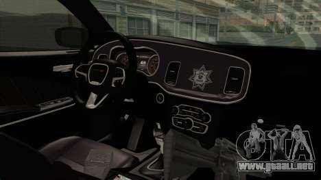 Dodge Charger RT 2016 Federal Police para visión interna GTA San Andreas