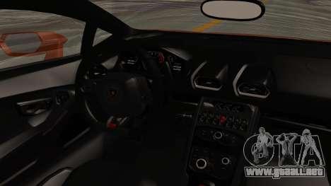 Lamborghini Huracan Libertywalk Kato Design para visión interna GTA San Andreas
