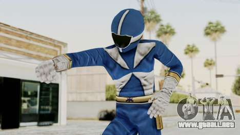Power Rangers Lightspeed Rescue - Blue para GTA San Andreas