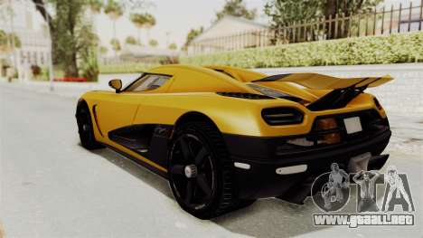 Koenigsegg Agera 2016 from ENF para GTA San Andreas left