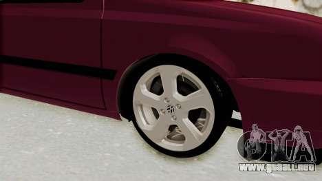 Volkswagen Golf 3 para GTA San Andreas vista hacia atrás