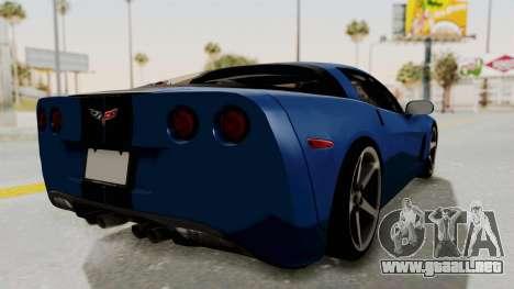 Chevrolet Corvette C6 para la visión correcta GTA San Andreas