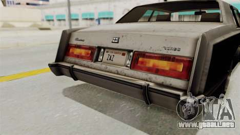 GTA 5 Dundreary Virgo SA Style para la vista superior GTA San Andreas