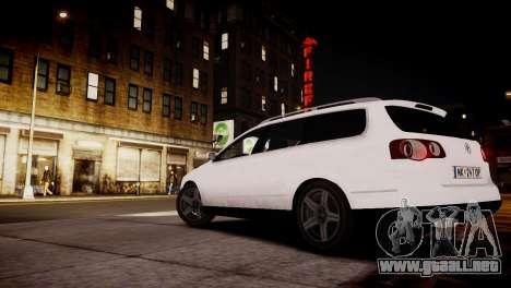 Volkswagen Passat Variant 2010 V1 para GTA 4 Vista posterior izquierda