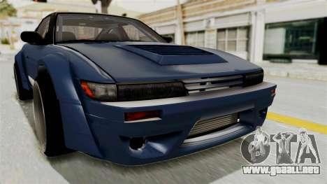 Nissan Silvia Sil80 para vista lateral GTA San Andreas