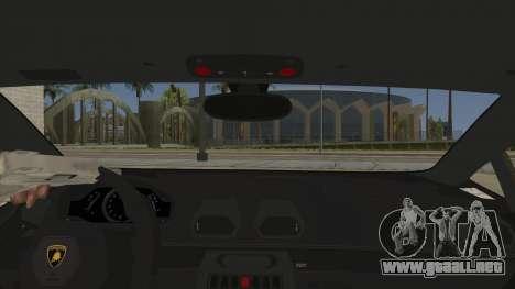 Lamborghini Huracan Liberty Walk para visión interna GTA San Andreas