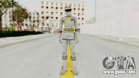 Power Rangers Wild Force - White para GTA San Andreas segunda pantalla