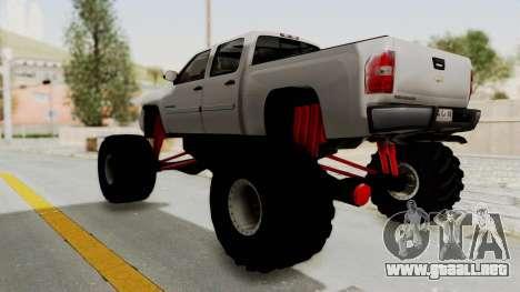Chevrolet Silverado 2011 Monster Truck para la visión correcta GTA San Andreas
