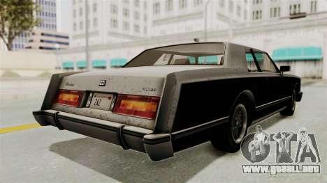 GTA 5 Dundreary Virgo SA Style para GTA San Andreas vista posterior izquierda