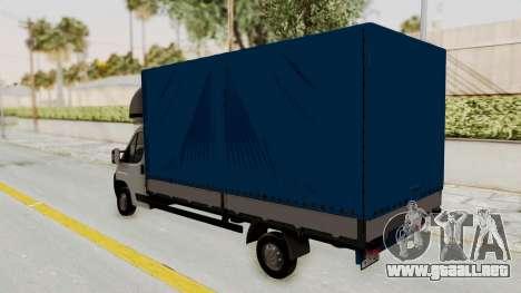 Fiat Ducato Work Van v2 para la visión correcta GTA San Andreas