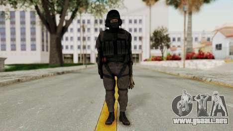 MGSV Phantom Pain Cipher XOF Afghanistan No Mask para GTA San Andreas segunda pantalla