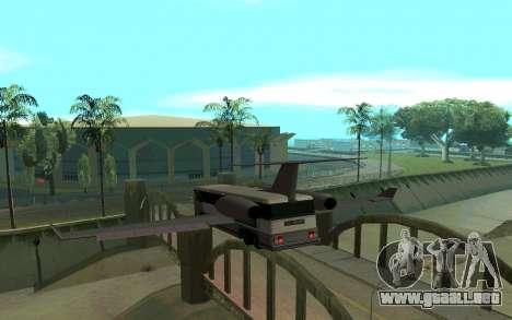 Sky Bus para GTA San Andreas vista posterior izquierda