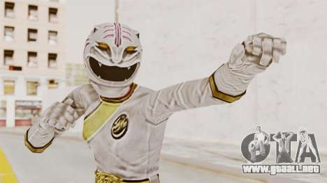 Power Rangers Wild Force - White para GTA San Andreas