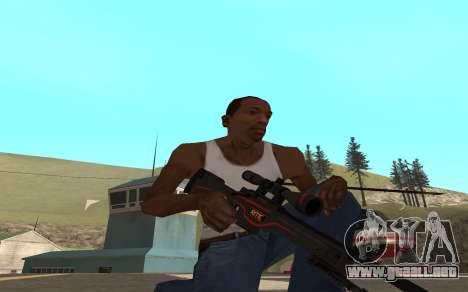Redline weapon pack para GTA San Andreas quinta pantalla