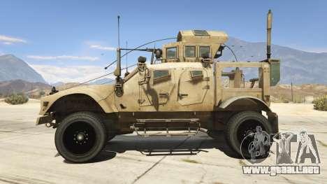 GTA 5 Oshkosh M-ATV 0.01 vista lateral izquierda