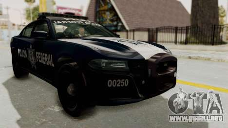 Dodge Charger RT 2016 Federal Police para la visión correcta GTA San Andreas
