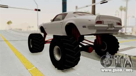 Pontiac Firebird 1970 Monster Truck para GTA San Andreas left