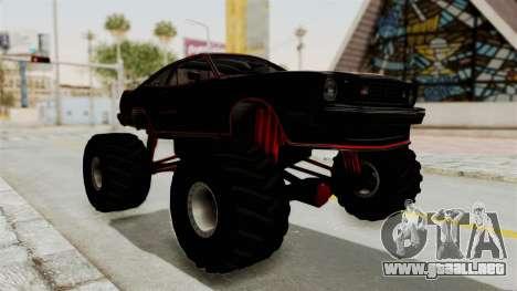 Ford Mustang King Cobra 1978 Monster Truck para la visión correcta GTA San Andreas