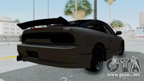 Nissan Sileighty TOD para GTA San Andreas vista posterior izquierda