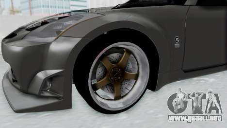 Nissan 350Z V6 Power para GTA San Andreas vista hacia atrás
