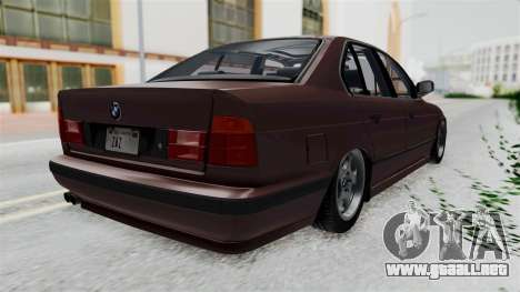 BMW 525i E34 1994 SA Plate para la visión correcta GTA San Andreas