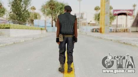 MGSV Phantom Pain Rogue Coyote Commander para GTA San Andreas tercera pantalla