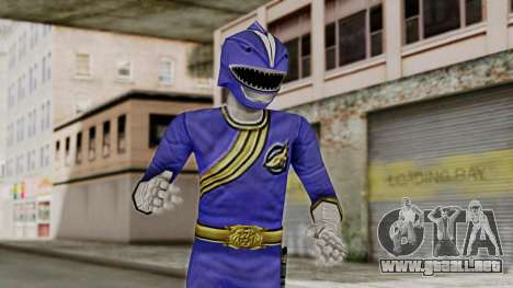 Power Rangers Wild Force - Blue para GTA San Andreas