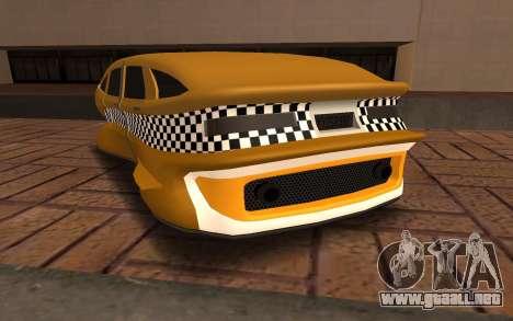 Flying Taxi para GTA San Andreas vista posterior izquierda