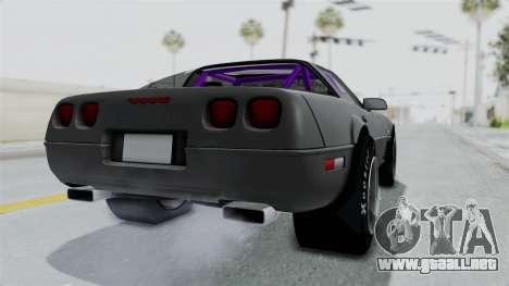 Chevrolet Corvette C4 Drag para GTA San Andreas vista posterior izquierda
