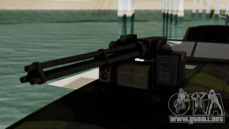 Triton Patrol Boat from Mercenaries 2 para GTA San Andreas vista hacia atrás