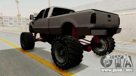 Ford F-350 Super Duty Monster Truck para la visión correcta GTA San Andreas