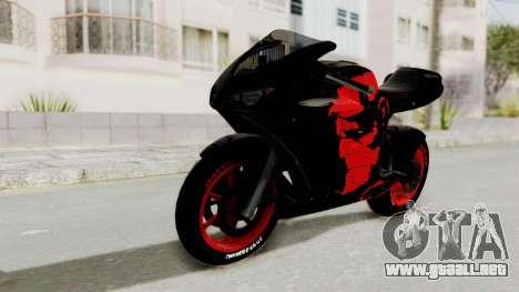 Bati Batik Hellboy Motorcycle v3 para GTA San Andreas vista posterior izquierda