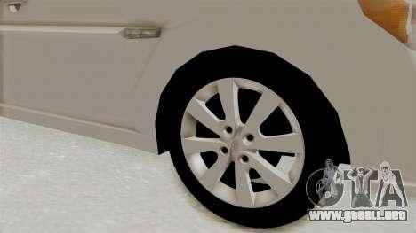 Hyundai Accent Era para GTA San Andreas vista hacia atrás