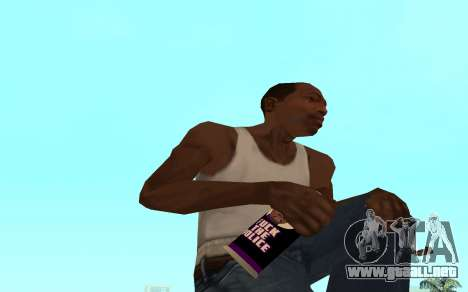 Purple fire weapon pack para GTA San Andreas séptima pantalla
