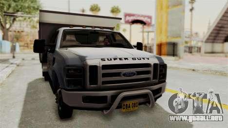 Ford F-350 Super Duty Volqueta para la visión correcta GTA San Andreas