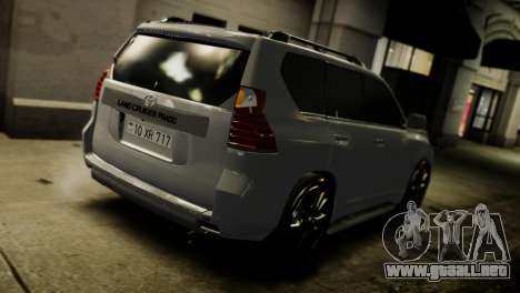 Toyota Land Crusier Prado 150 para GTA 4 vista superior