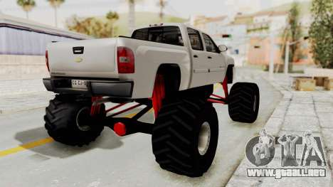 Chevrolet Silverado 2011 Monster Truck para GTA San Andreas left