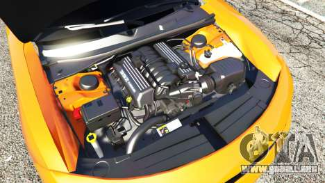 GTA 5 Dodge Charger SRT Hellcat 2015 v1.2 delantero derecho vista lateral