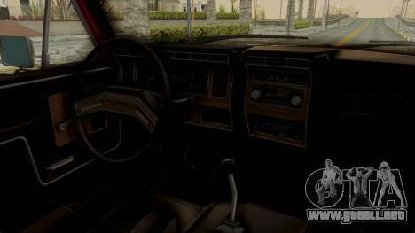 Ford Bronco 1985 Lifted para visión interna GTA San Andreas