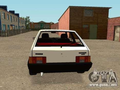 VAZ 2108 Stock by Greedy para la visión correcta GTA San Andreas