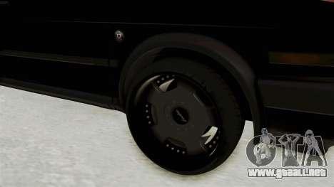 Volkswagen Jetta 2 para GTA San Andreas vista hacia atrás