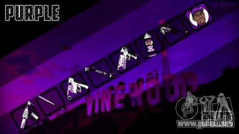 Purple fire weapon pack para GTA San Andreas