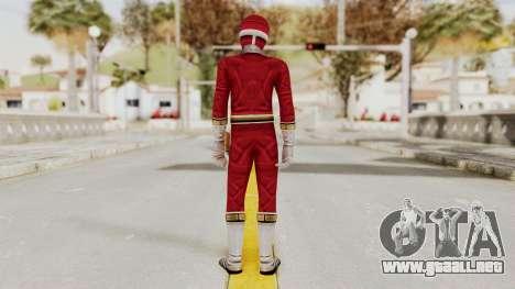 Power Rangers Lightspeed Rescue - Red para GTA San Andreas tercera pantalla