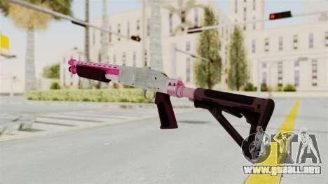 GTA 5 Pump Shotgun Pink para GTA San Andreas segunda pantalla
