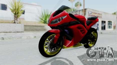Kawasaki Ninja 250FI Anak Jalanan para la visión correcta GTA San Andreas