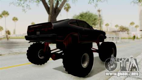 Ford Mustang King Cobra 1978 Monster Truck para GTA San Andreas vista posterior izquierda